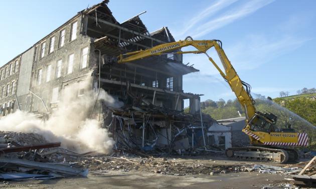 HOUSE DEMOLISHED BY FORKLIFT
