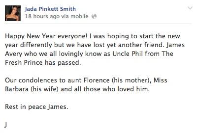 Jada Pinket Smit James Avery Facebook