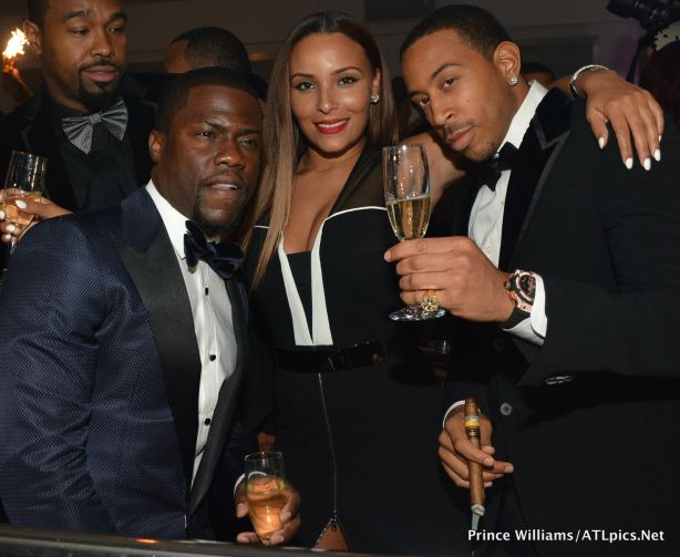 Kevin Hart with Ludacris and his girlfriend  Eudoxie