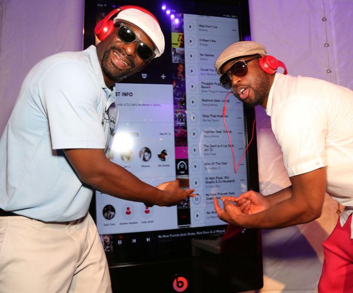 DJ Irie and Dwyane Wade