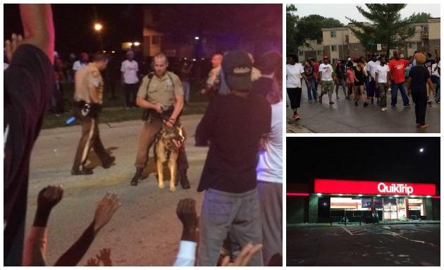 Ferguson People Protest Police Clash