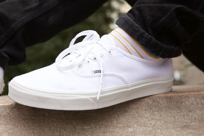 Luke James' Vans sneakers