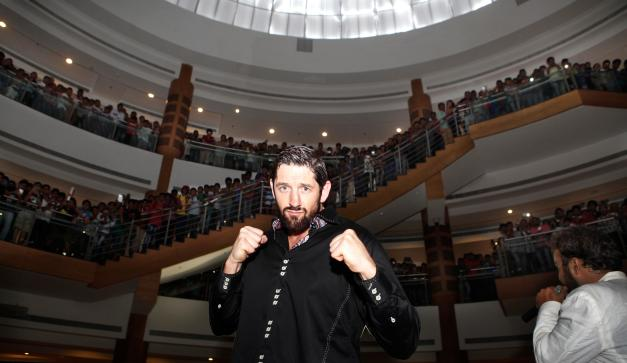 WWE Star 'Bad News' Barrett In Mumbai