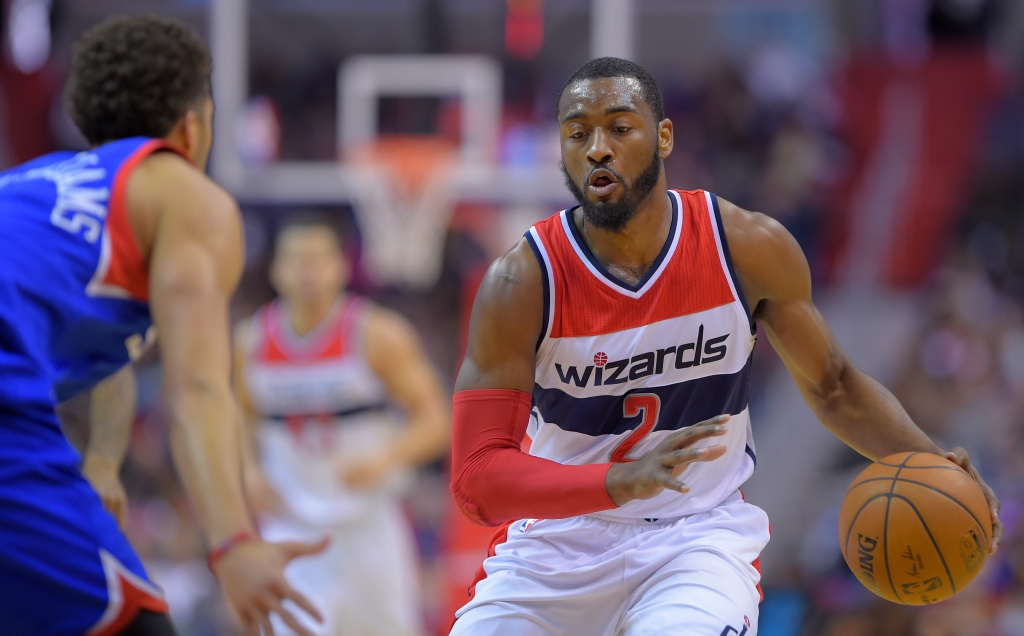 the Washington Wizards play the Philadelhia 76er's