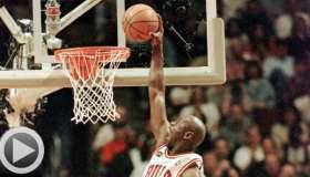Michael Jordan dunk video