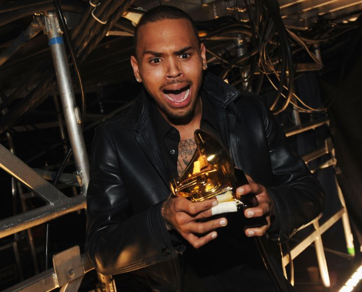 "Chris Brown Wins A Grammy For ""F.A.M.E."""