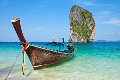 Long tail boat at Koh Poda