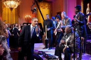 Obama Attends In Performance at the White House: Red, White and Blues