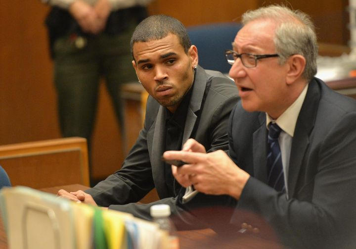 Chris Brown In Court For Assaulting Rihanna