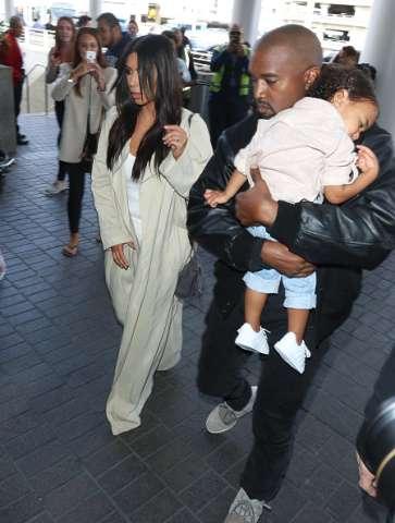 North and Kanye West and Kim Kardashian