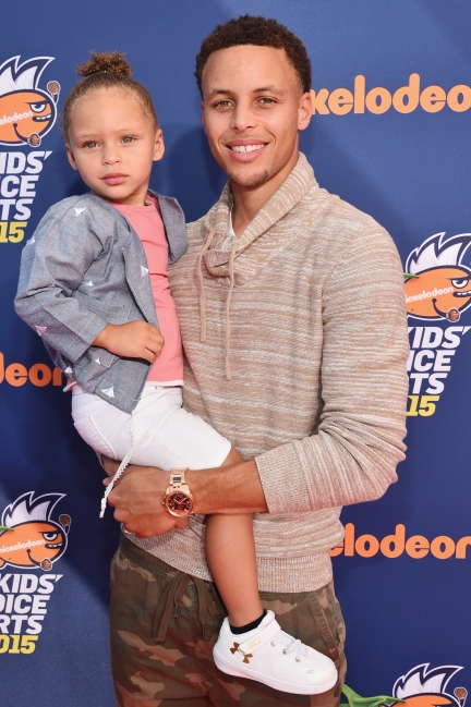 Riley And Steph Curry 2015 Kids Choice Awards
