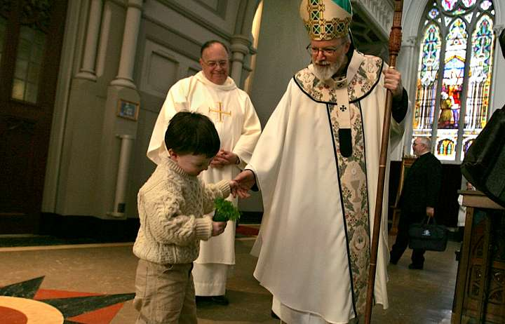St. Patrick's Day Mass At Cathedral Of The Holy Cross