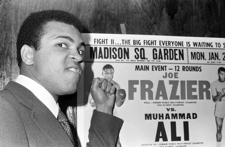 Muhammad Ali and Joe Frazier Press Conference