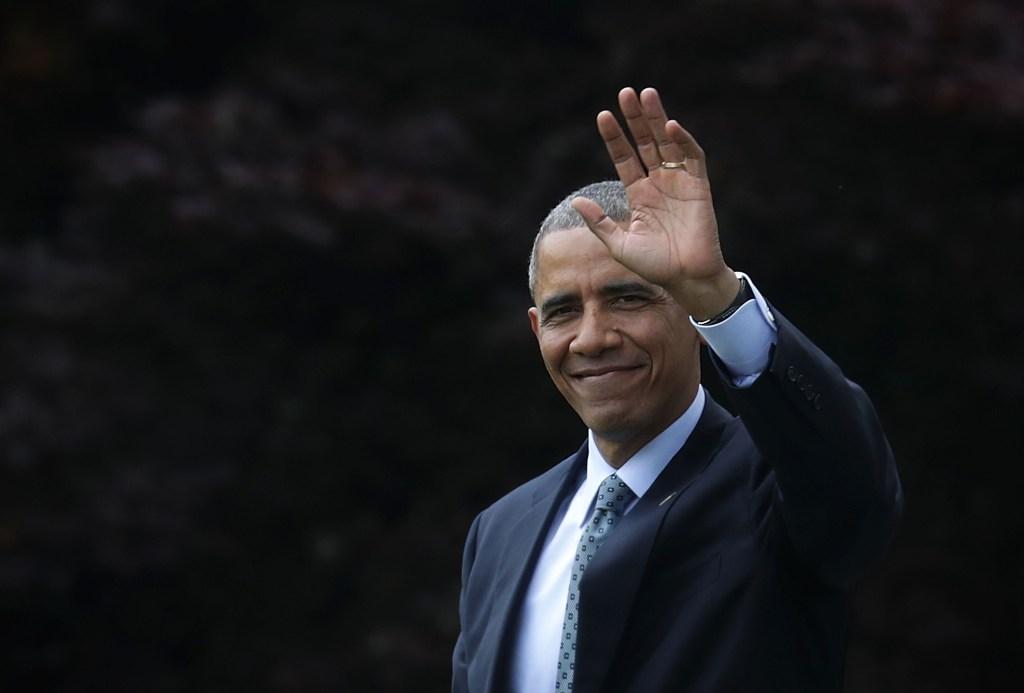 President Obama Departs The White House En Route To Illinois